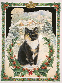 Copyright Lesley Ivory - Motley and the Victorian Christmas card