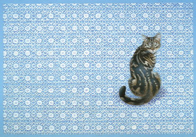 Copyright Lesley Ivory - Octopussy on granny's lace