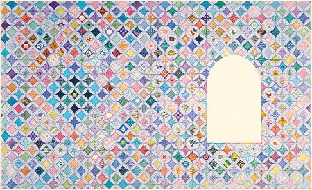 Copyright Lesley Ivory - Cathedral patchwork background