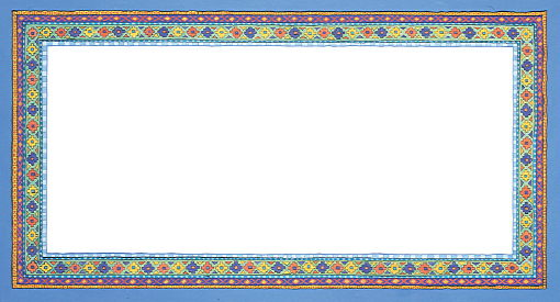 Copyright Lesley Ivory - Blue decorative border