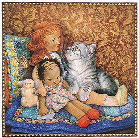 Copyright Lesley Ivory - Mintaka with Bluebell, Montania and Ben bear
