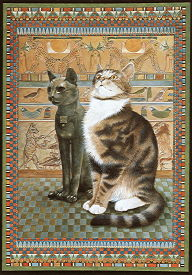 Copyright Lesley Ivory - Twiglet with Egyptian cats