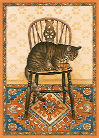 Copyright Lesley Ivory - Lucy Locket on wheelback chair