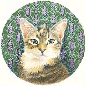 Copyright Lesley Ivory - Sheena and the lavender