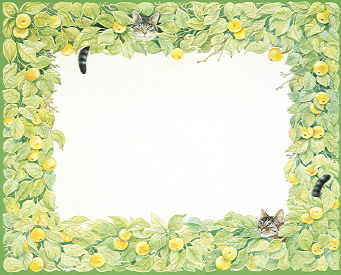 Copyright Lesley Ivory - Apple tree border