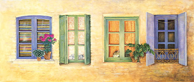Copyright Lesley Ivory - Mediterranean windows