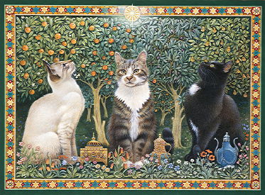 Copyright Lesley Ivory - We Three Kings, Ra-Ra, Twiglet and Gabby