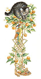 Copyright Lesley Ivory - Decorative strip orange tree, Ruskin