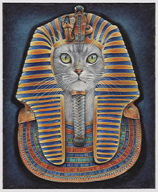 Copyright Lesley Ivory - Feline Pharoh II with Zar