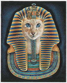 Copyright Lesley Ivory - Feline Pharoh III with Ra-Ra