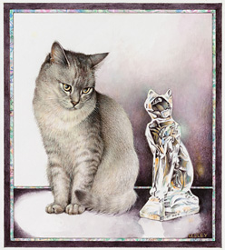 Copyright Lesley Anne Ivory - Mumu and the Crystal Cat
